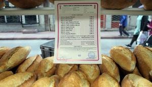 Samsun'da ekmek fiyat tarifesinde değişiklik