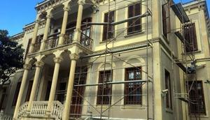 Samsunda tarihi binaya kış bakımı