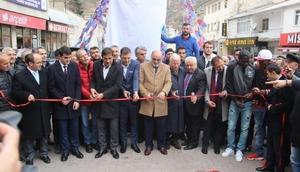 Trabzonspora Gümüşhane'de coşkulu karşılama