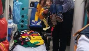 Çorumda otomobil çarptığı çocuk yaralandı