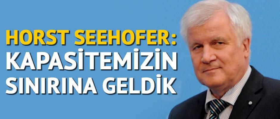 Seehofer: Kapasitemizin sınırına geldik