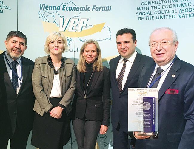 Marmara Group head Akkan Suver awarded at Vienna Economic