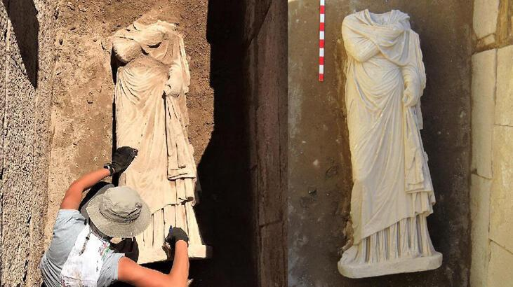 Statue of woman found in Patara