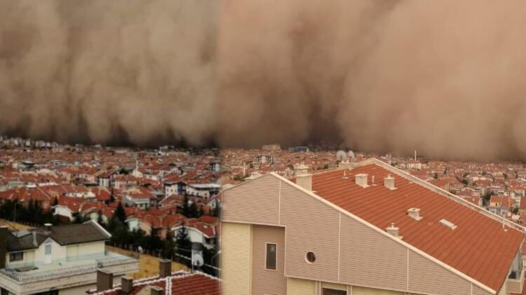 Rare sandstorm engulfs two districts in capital Ankara