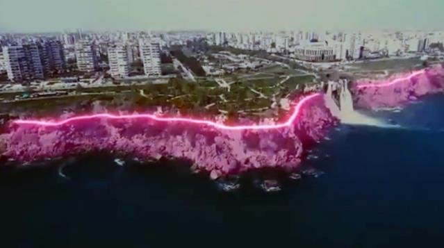 Yamaçlardaki aydınlatma projesi sosyal medyada tartışmalara yol açtı