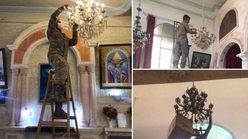 Turkey repairs Syriac Orthodox church in northeast Syria