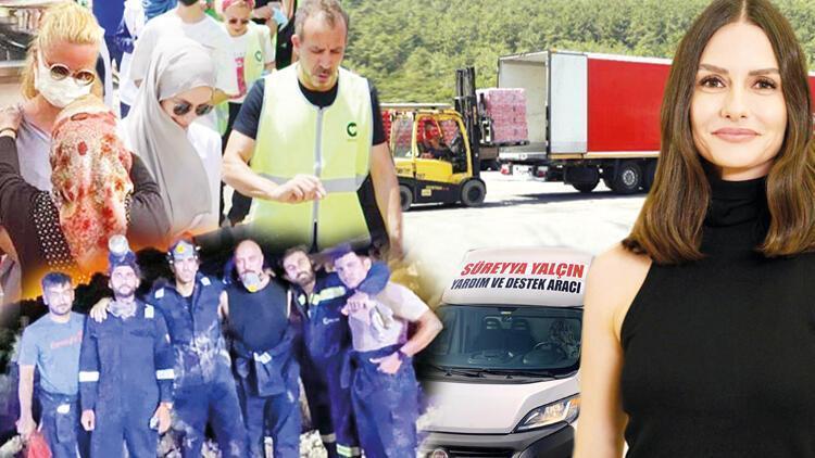 Las celebridades turcas se acercan para apoyar a los bomberos