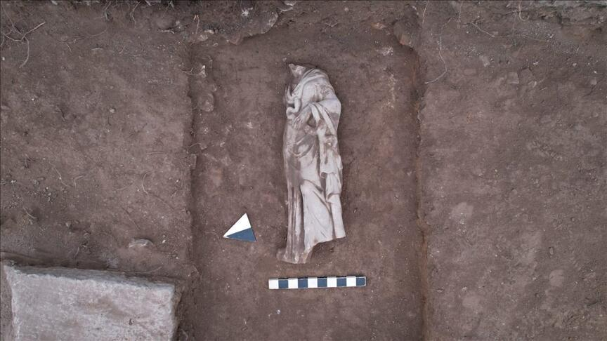 Statue of Greek health goddess Hygieia unearthed