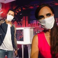 Madame Tussauds Istanbul figures wear masks