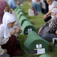 Bosnia Muslims mourn their dead 25 years after Srebrenica genocide