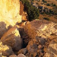 Ancient symbolic rocks detonated by treasure hunters in Isparta