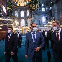 Turkish spokesperson, 30 envoys visit Hagia Sophia