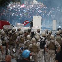 Electric night of Lebanon protests after blast