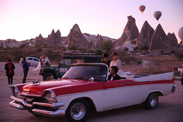 Visitors To Cappadocia Class It Up With Vintage Cars