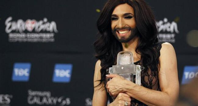 Austrian bearded drag queen wins Eurovision song contest
