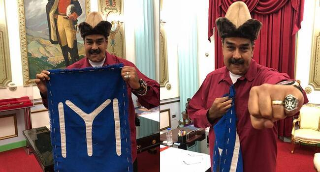 Venezuelan leader Maduro wears accessories from TV series on founder of Ottoman Empire