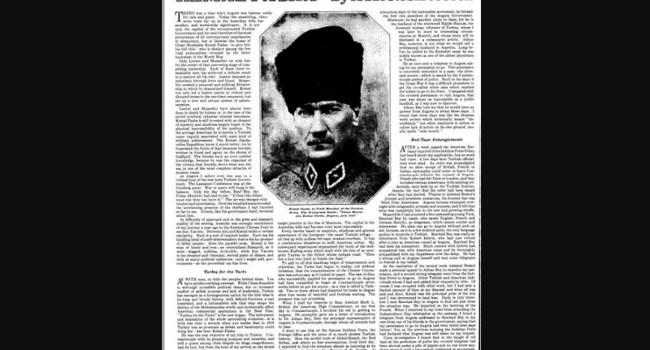 1923 interview with Atatürk