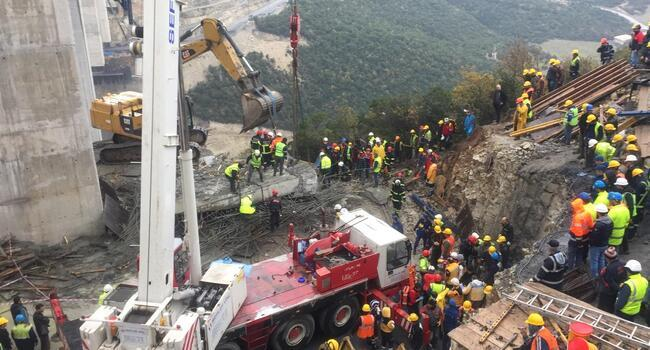 Three workers die under rubble after bridge collapses in Turkeys northwest