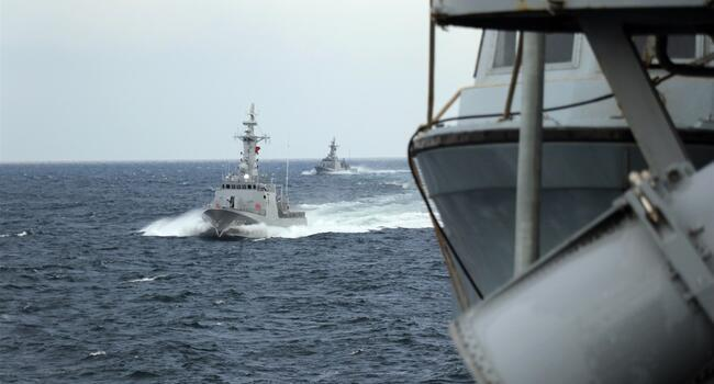 Turkey, Russia hold joint naval drill in the Black Sea
