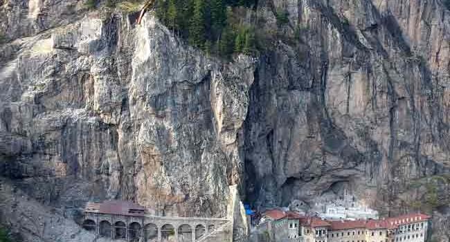 First stage of restoration works at historical Sümela Monastery nears end