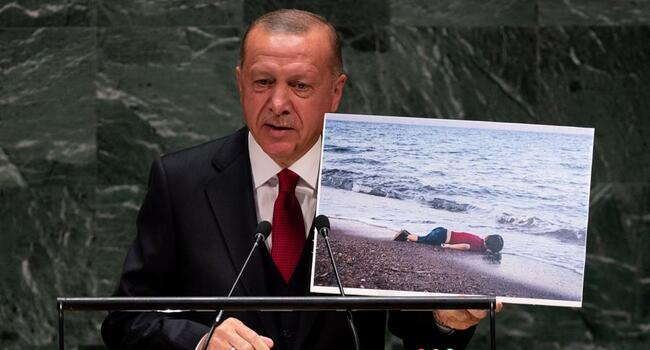Peace corridor to solve Syria migrant crisis: Erdoğan to UN General Assembly