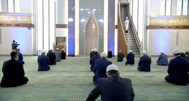 Turkey holds Friday prayers for 'few' people
