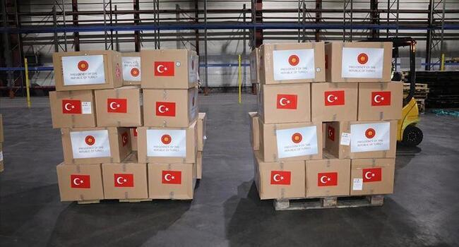 Medical supplies sent by Turkey arrive in Kazakhstan