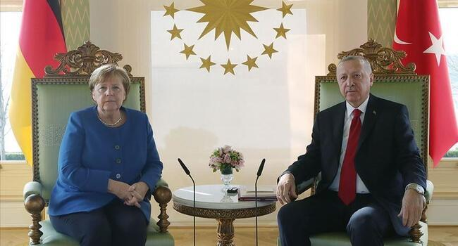 Erdoğan, Merkel discuss east Med via video link