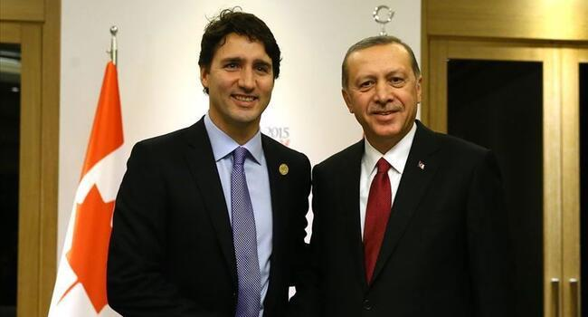 Erdoğan, Trudeau discuss issues via telephone