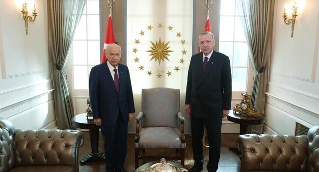 President Erdoğan, MHP leader hold meeting