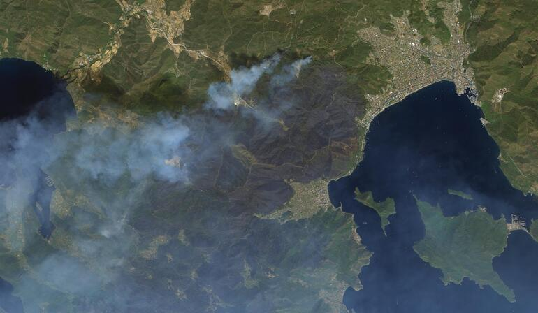Turkish satellites monitor damages from space