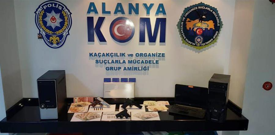 Alanya'da yasa dışı bahis operasyonu! 40 gözaltı...
