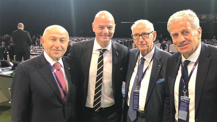 TFF Başkanı Nihat Özdemir, Infantino'yu tebrik etti
