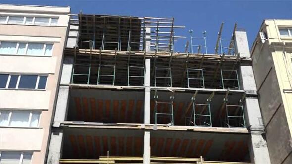 İstanbulun göbeğinde otel inşaatında ölüm