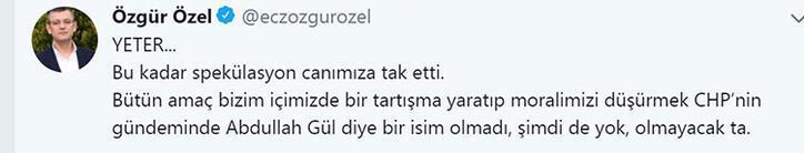 CHPden son dakika Abdullah Gül açıklaması