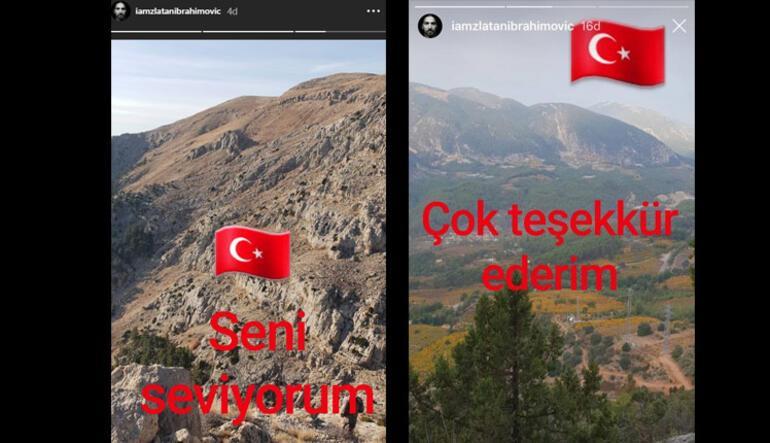 Ibrahimovic kafaları karıştırdı Türk bayraklı paylaşım...