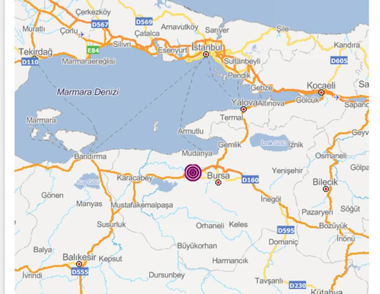 Son dakika... Bursada korkutan deprem...
