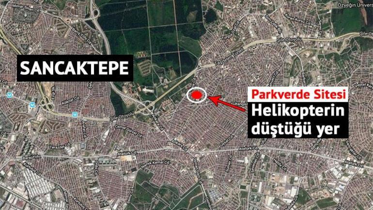 Son dakika... İstanbulda site içerisine askeri helikopter düştü