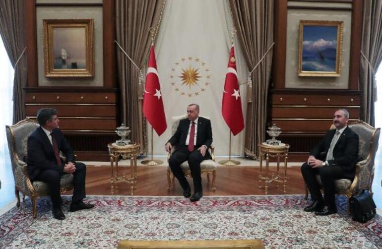 Cumhurbaşkanı Erdoğan, TBB Başkanı Metin Feyzioğlunu kabul etti