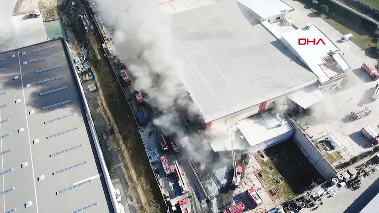 Son dakika... Hadımköy'de fabrikada yangın