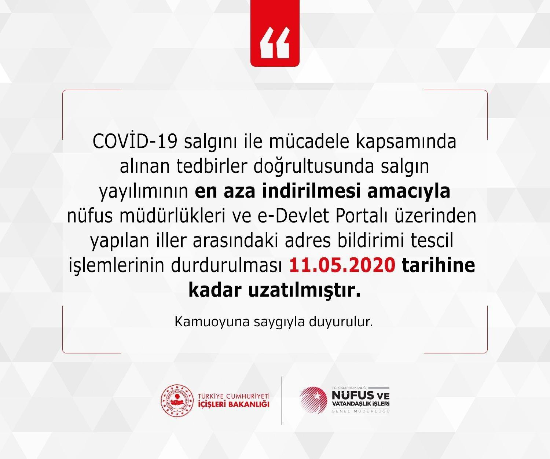 Son dakika... 11 Mayıs'a kadar durduruldu! Nüfus ve Vatandaşlık İşleri Genel Müdürlüğü'nden yeni karar