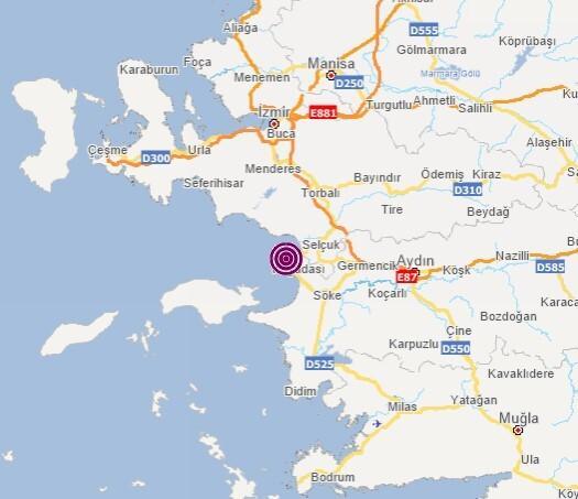 Son dakika: Aydın'da korkutan deprem