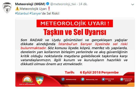 Son dakika... İstanbul'da Sarıyer için sel uyarısı yapılmıştı, Çayırbaşı Tüneli kapandı