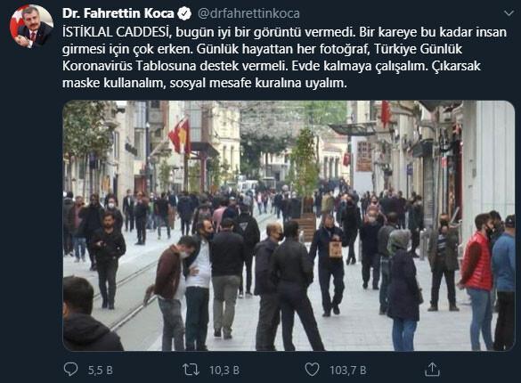 Bakan Koca tepki göstermişti... İstiklal Caddesi'nde yine aynı manzara...