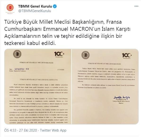 Son dakika haberi:  Macron'a çok sert tepki... AK Parti, CHP, MHP ve İYİ Parti'den ortak bildiri