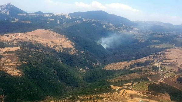 Son dakika... İzmir Güzelbahçe'de orman yangını