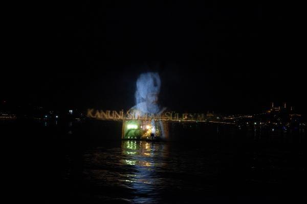 Preveze Deniz Zaferi için Haliç'te hologram gösterisi