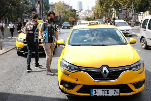 Mecidiyeköy'de kurallara uymayan taksicilere ceza
