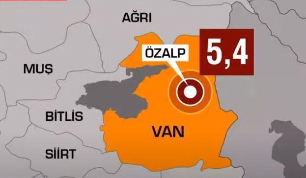 Son dakika haberi: Van'da 5.4 şiddetinde deprem.. Van Valisi'nden ilk açıklama