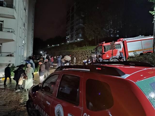 Ordu'yu sağanak vurdu! 36 daireli bina tahliye edildi